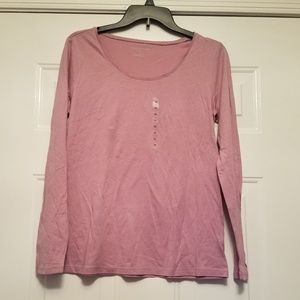 Ann Taylor Medium tshirt new shirtsleeves pink